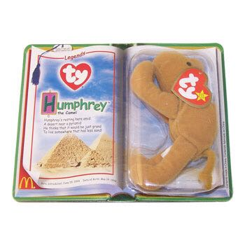 Humphrey the Camel Teenie Beanie Baby - Brown back image (back cover, second image)