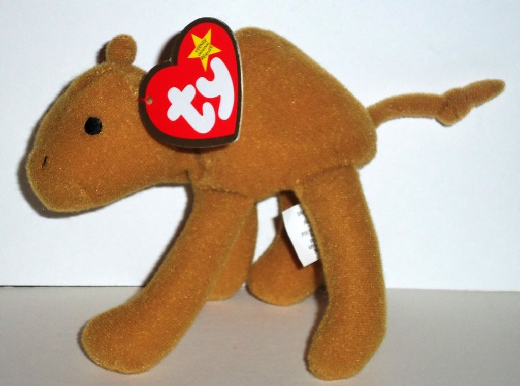 Humphrey the Camel Teenie Beanie Baby - Brown front image (front cover)