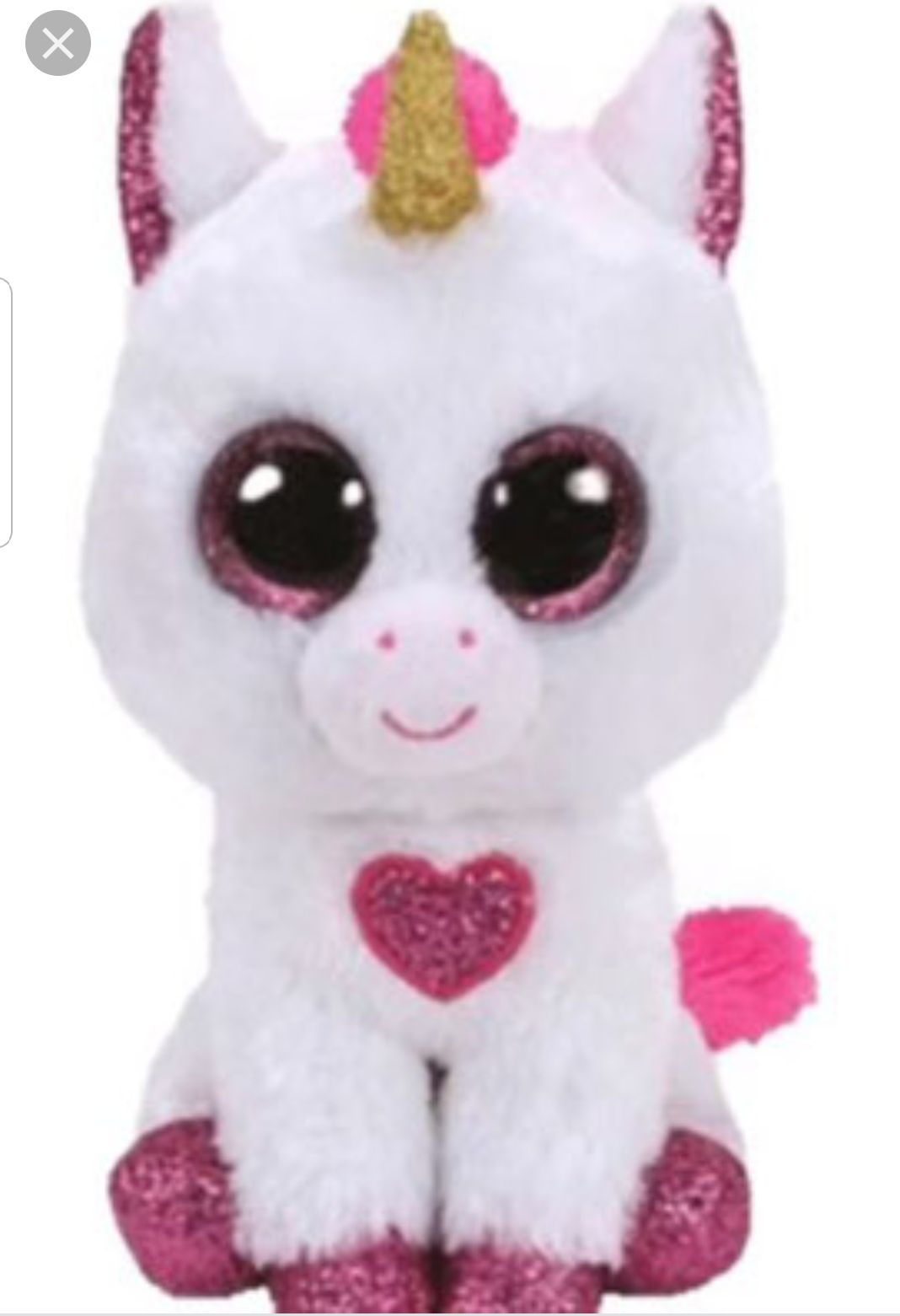 Cherie Beanie Baby - White (36441) back image (back cover, second image)