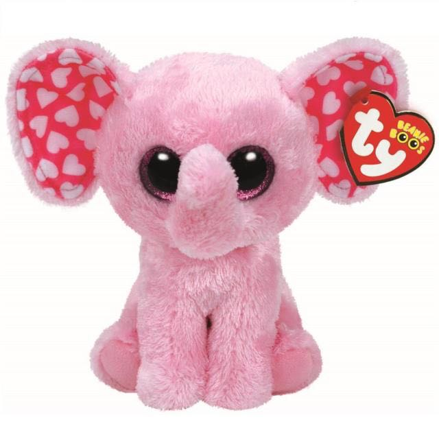 Sugar Elephant Plush, Pink, Medium Beanie Baby front image (front cover)