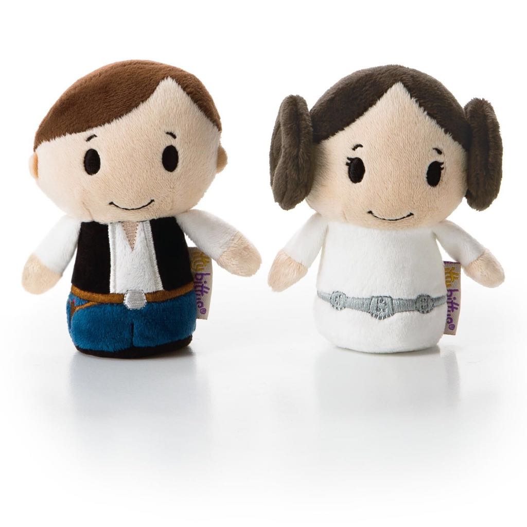 Han Solo and Princess Leia: itty bittys Beanie Baby back image (back cover, second image)
