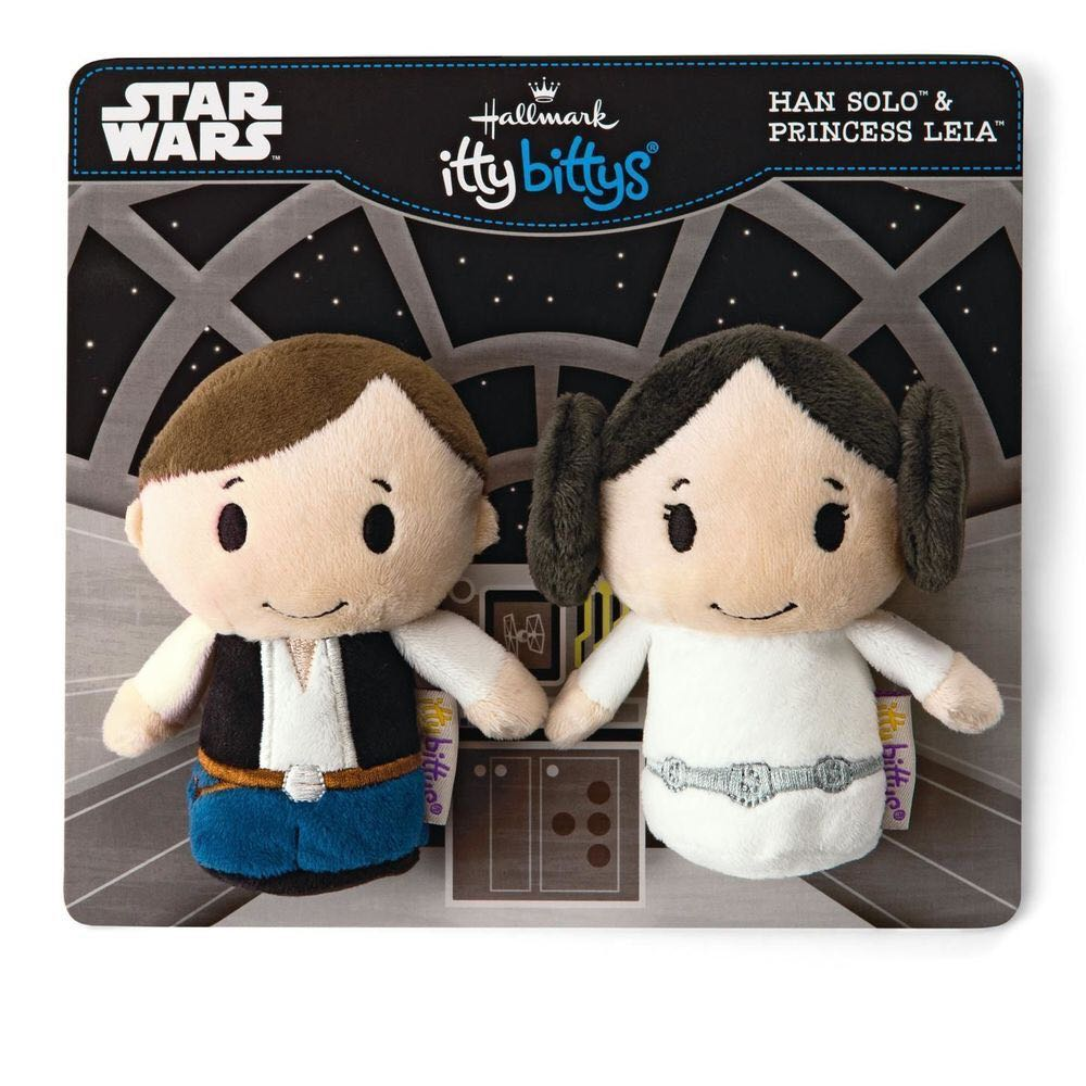 Han Solo and Princess Leia: itty bittys Beanie Baby front image (front cover)