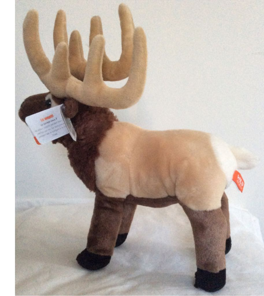 Wild Republic Elk Beanie Baby back image (back cover, second image)