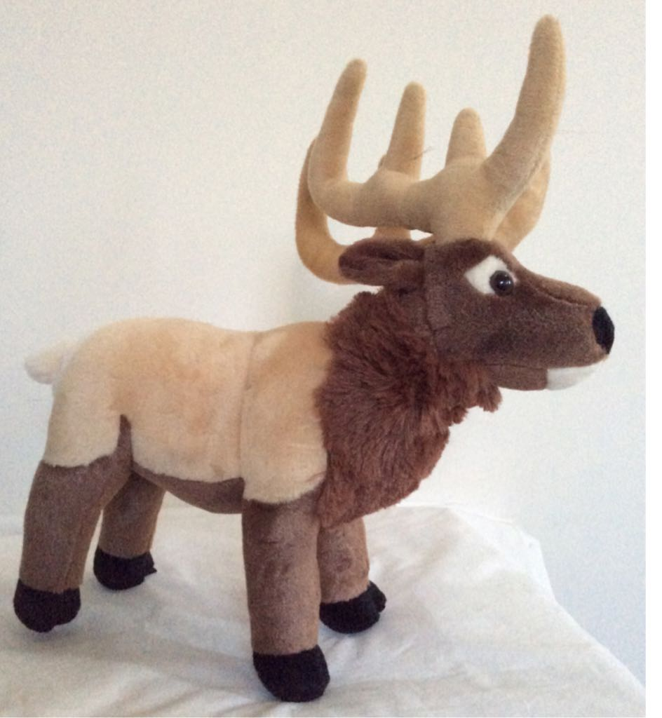 Wild Republic Elk Beanie Baby front image (front cover)