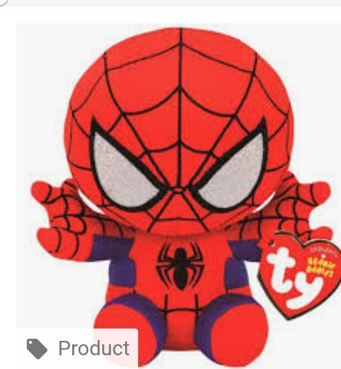 Spiderman Beanie Baby - Red (41188) front image (front cover)
