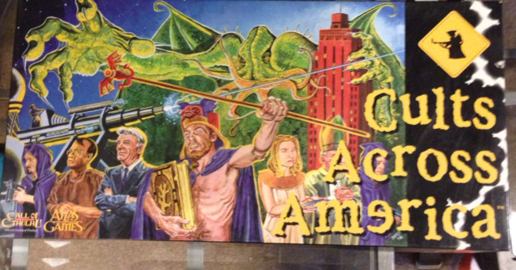 Cults across America Board Game - Atlas Games (Economic*Mythology) front image (front cover)