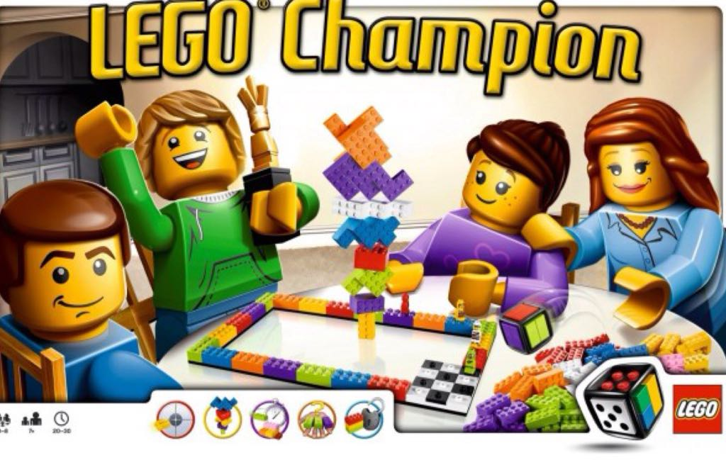 Lego Champion Board Game - Lego front image (front cover)