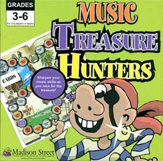 Music Treasure Hunters Board Game (Music) front image (front cover)