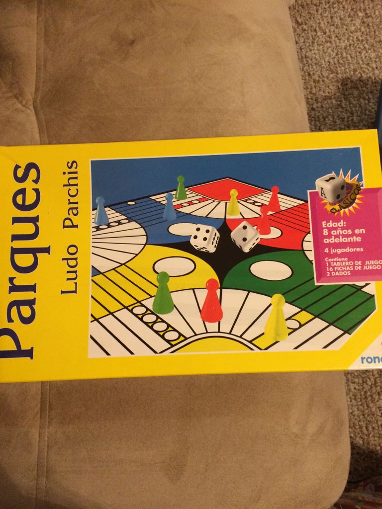 Parques. Ludo Parchis Board Game front image (front cover)