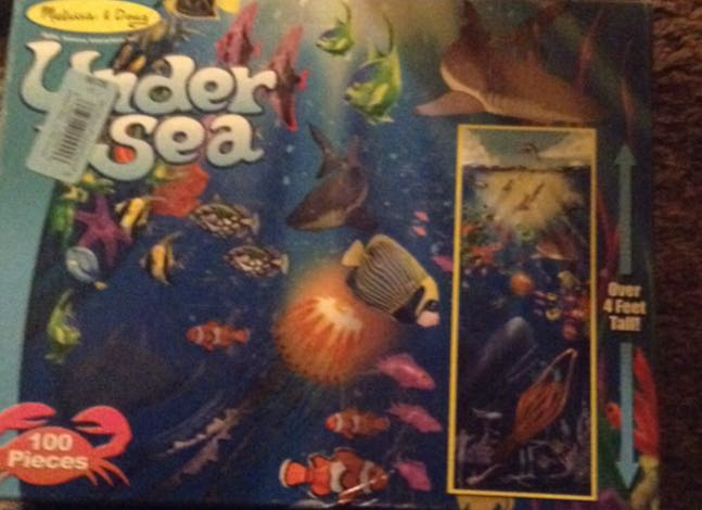 Under Sea Floor Puzzle Board Game front image (front cover)