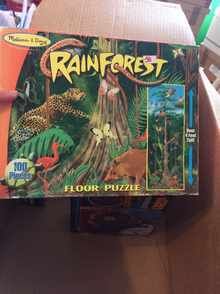 Rain Forest Floor Puzzle Board Game front image (front cover)