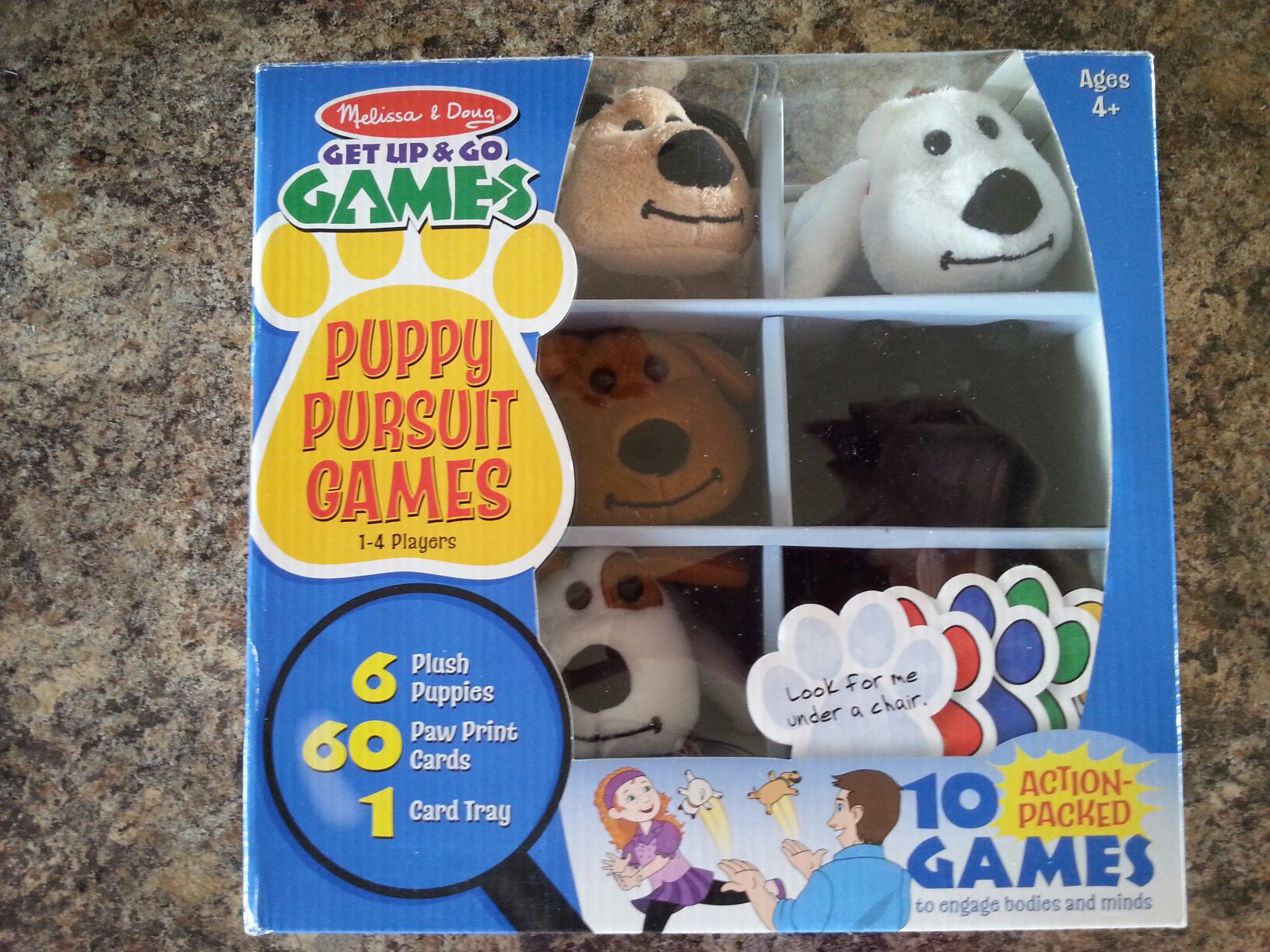 Puppy Pursuit Board Game - Melissa and Doug front image (front cover)