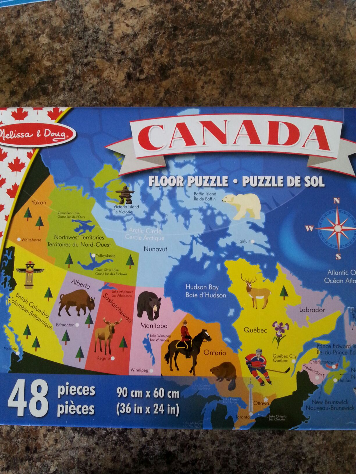 Canada Floor Map Puzzle Board Game front image (front cover)