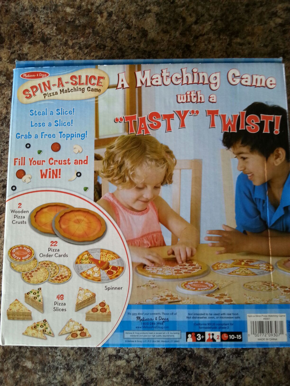 Spin A Slice Board Game - melissa and doug back image (back cover, second image)