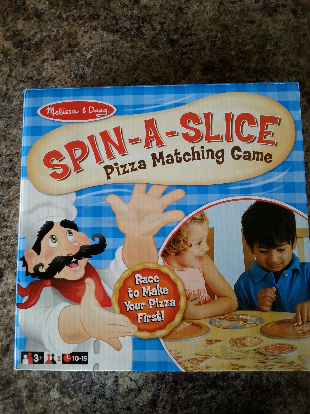 Spin A Slice Board Game - melissa and doug front image (front cover)