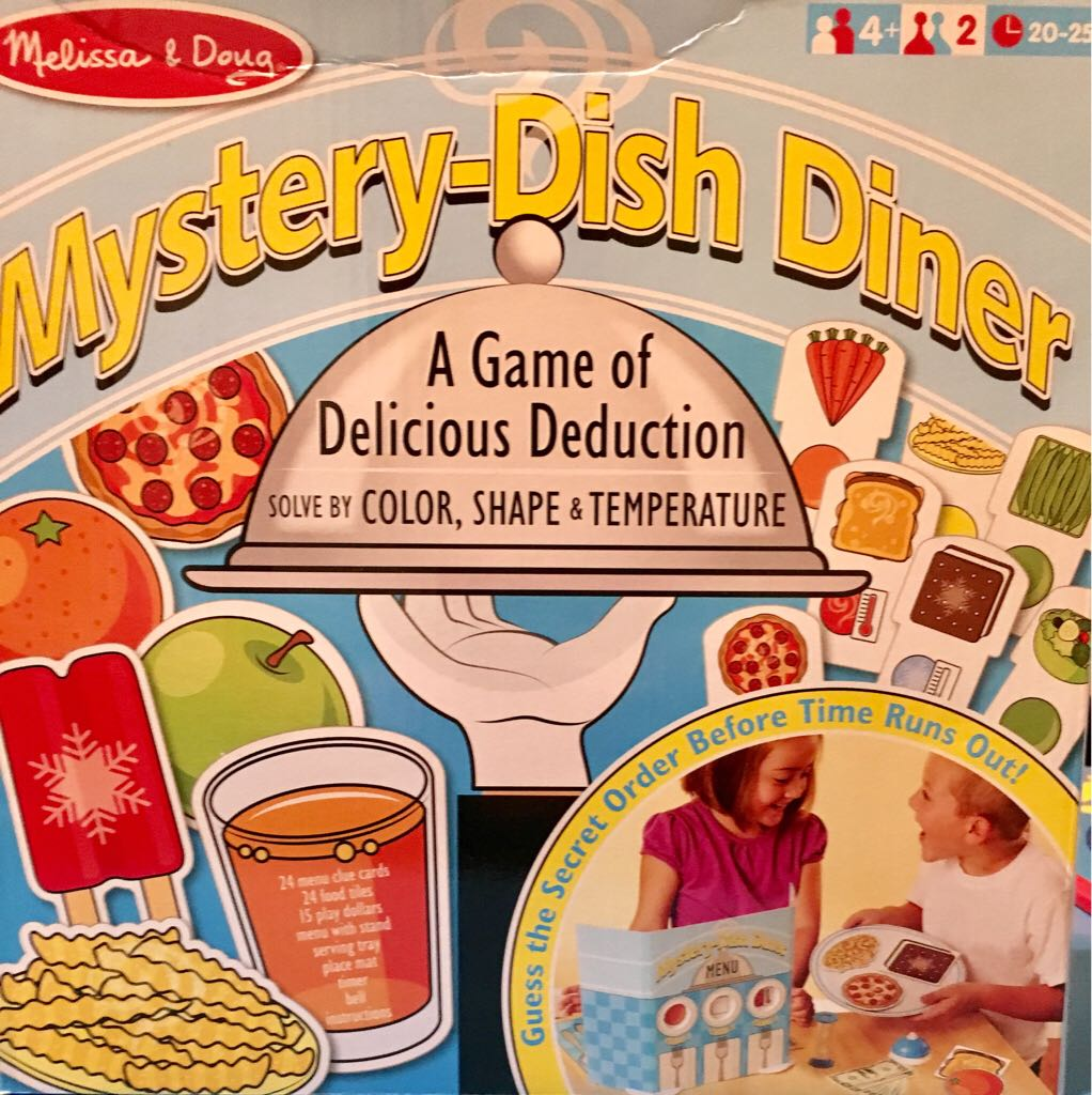 Mystery-Dish Diner Board Game - Melissa & Doug front image (front cover)