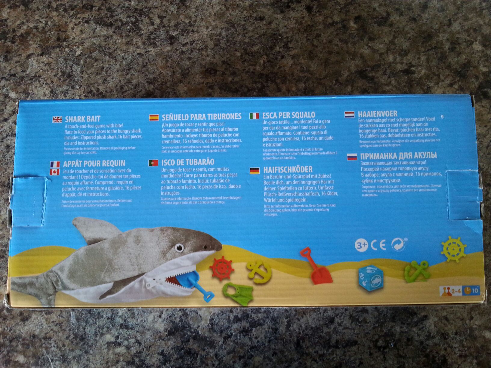 Shark Bait Board Game - melissa and doug (Children's Game) back image (back cover, second image)