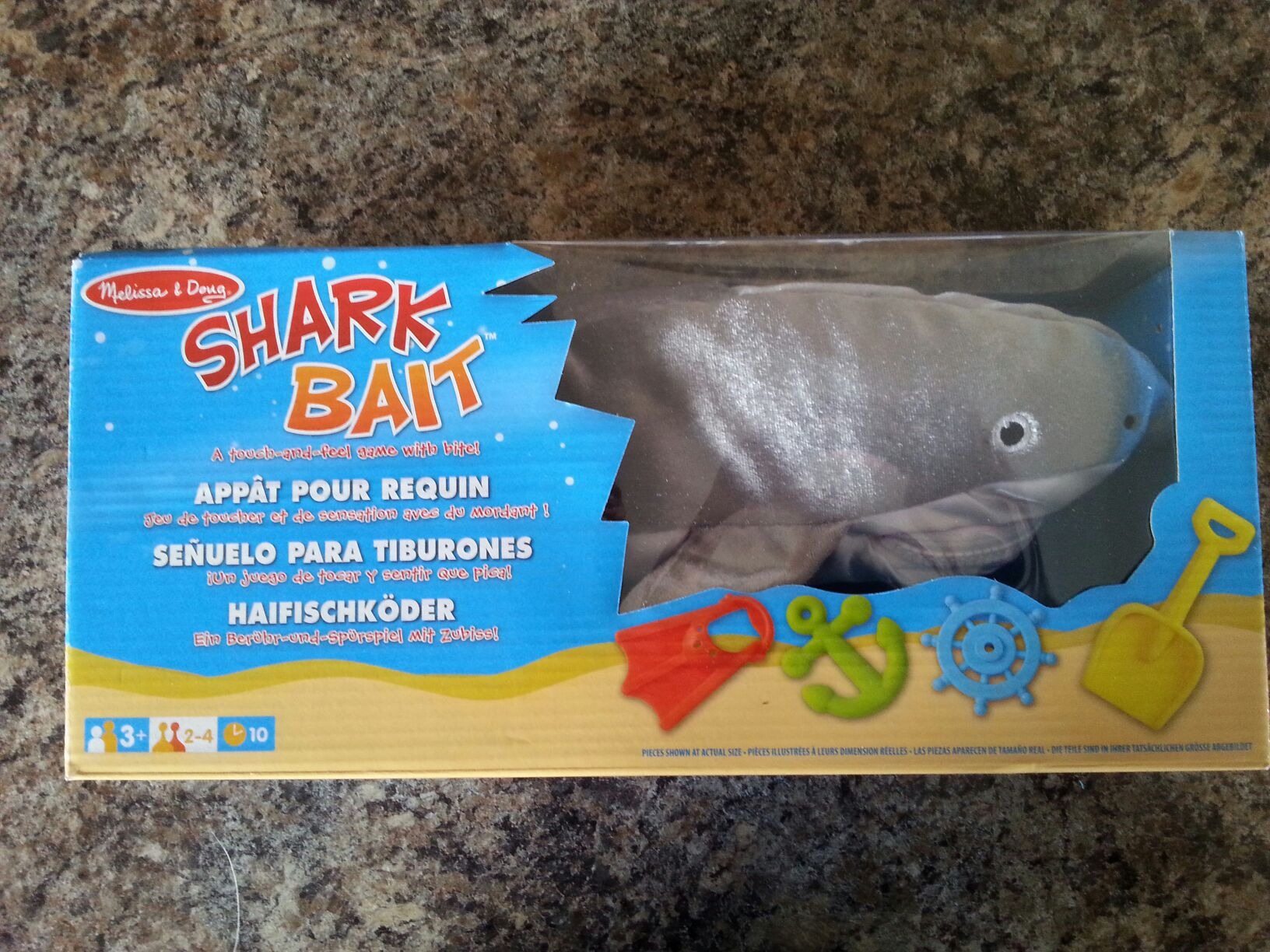 Shark Bait Board Game - melissa and doug (Children's Game) front image (front cover)