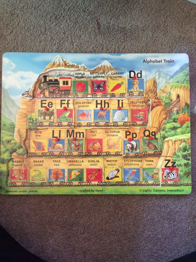 Puzzle ABC Train Board Game front image (front cover)