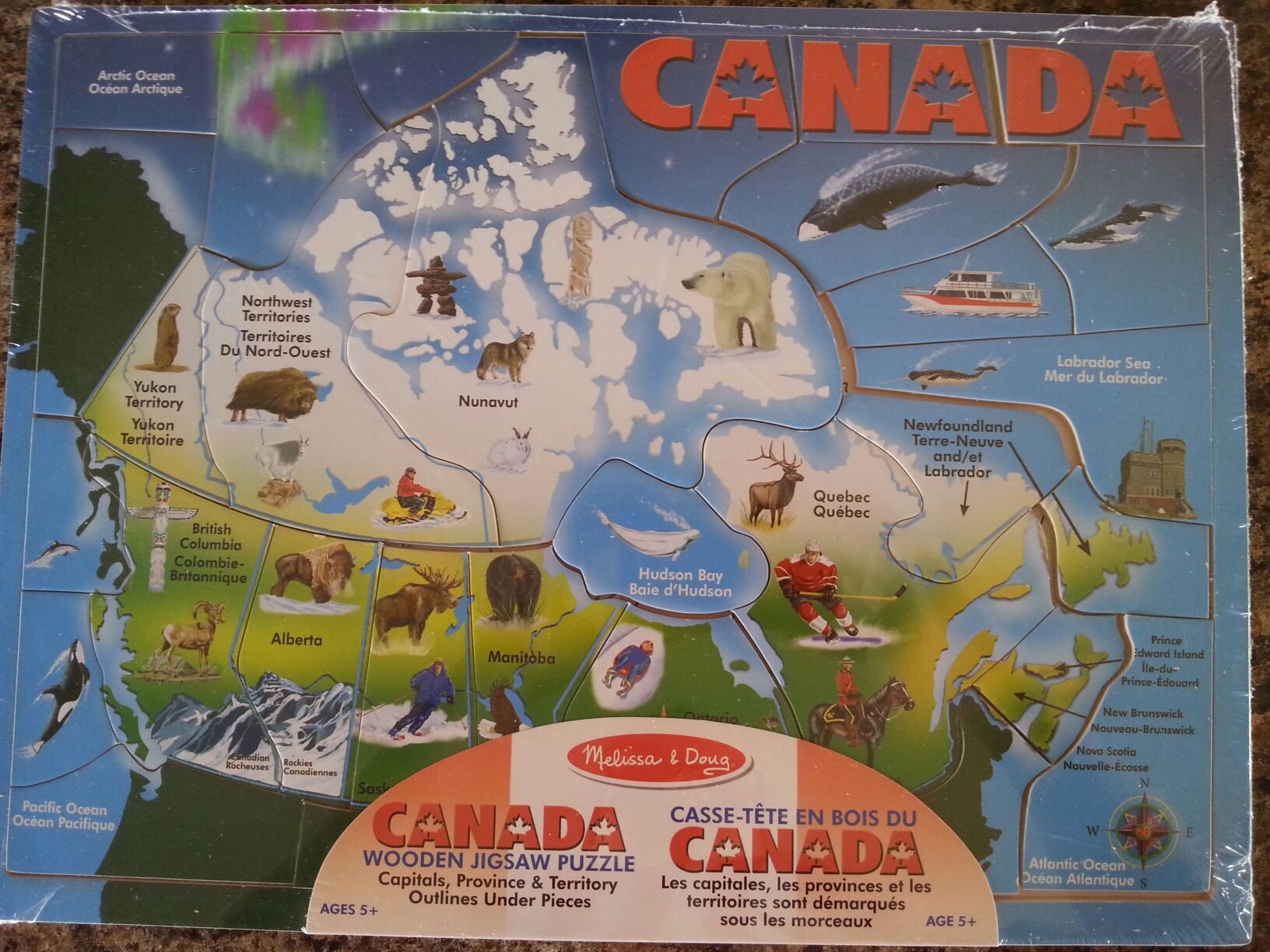 Puzzle - Map of Canada Board Game front image (front cover)