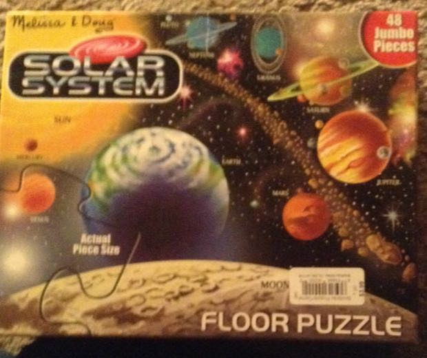 Solar System Floor Puzzle Board Game front image (front cover)