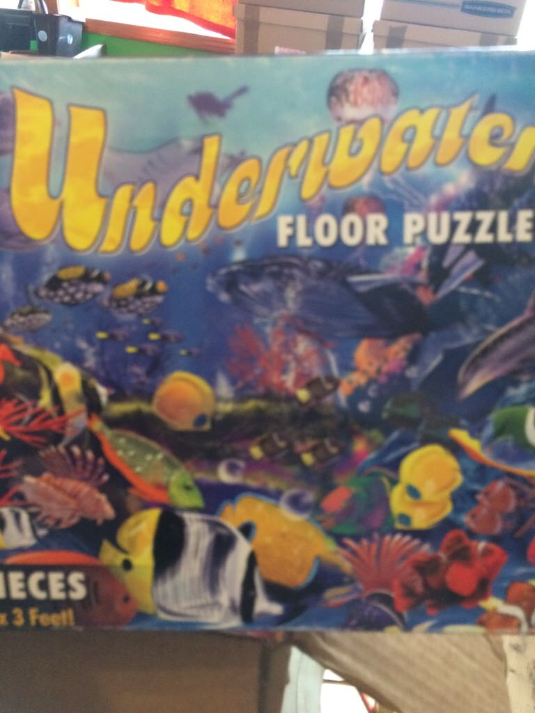 Underwater Floor Puzzle Board Game front image (front cover)