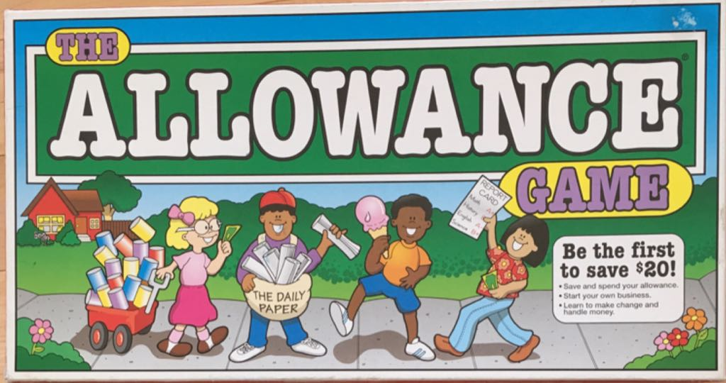 The Allowance Game Board Game - Lakeshore front image (front cover)
