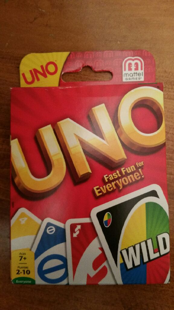 Uno Board Game - Mattel (Card Game) front image (front cover)