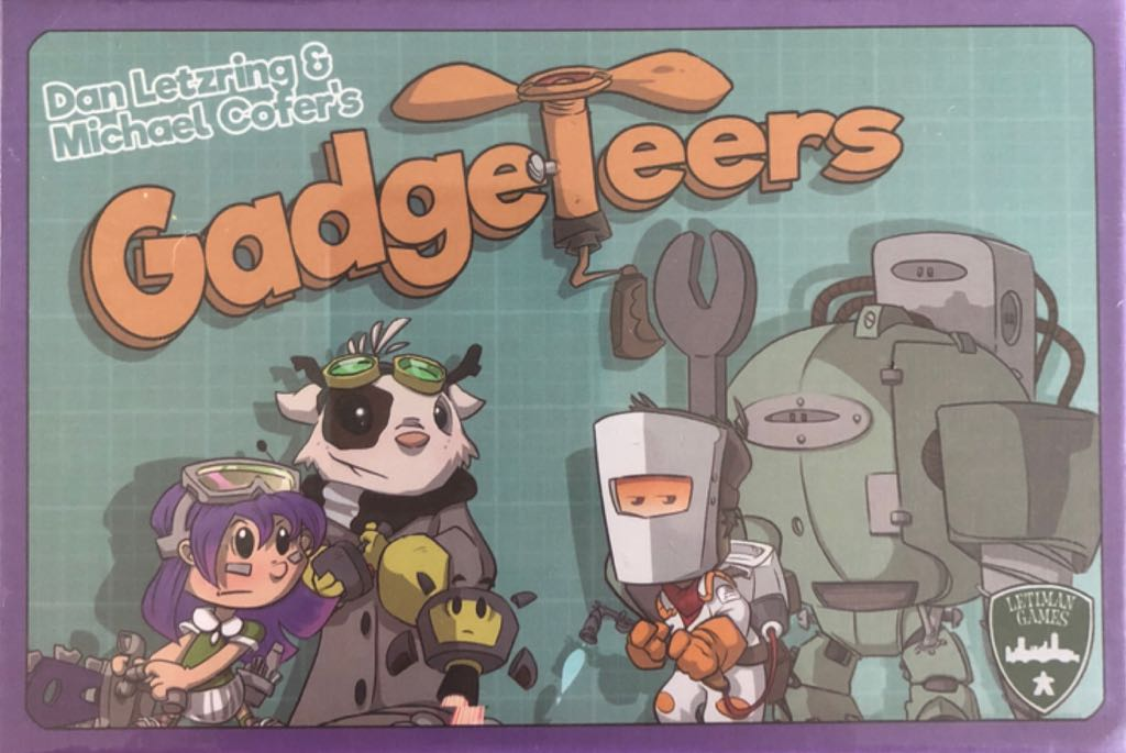 Gadgeteers Board Game - Letiman Games front image (front cover)