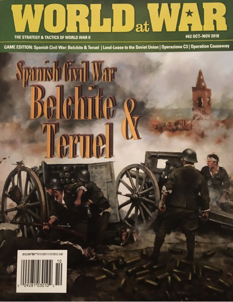 World at War #62: Spanish Civil War - Belchite & Teruel Board Game - Strategy and Tactics Press front image (front cover)