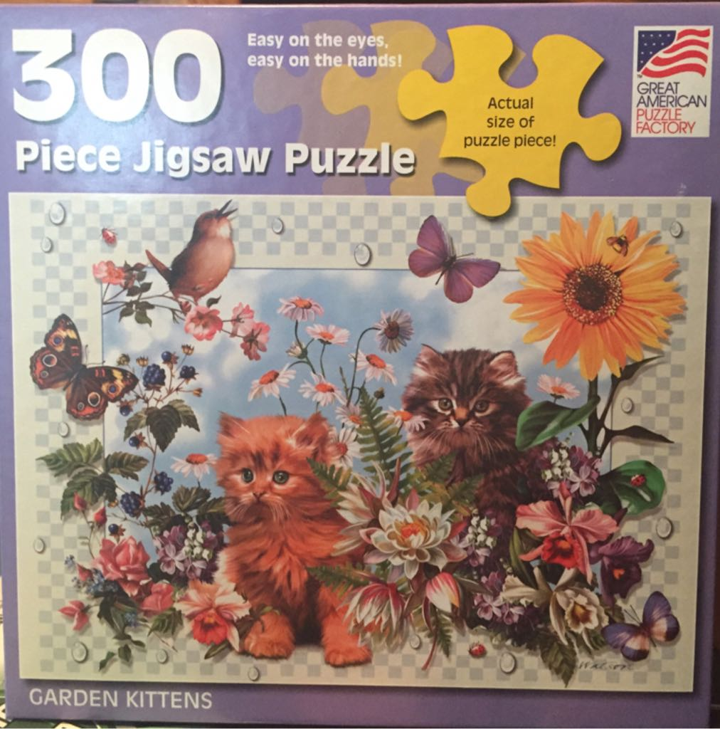 Puzzle: Garden Kittens Board Game front image (front cover)