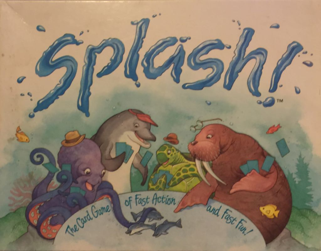 Splash! Board Game - Great American Puzzle Factory (Children's Game*Card Game*Animals) front image (front cover)