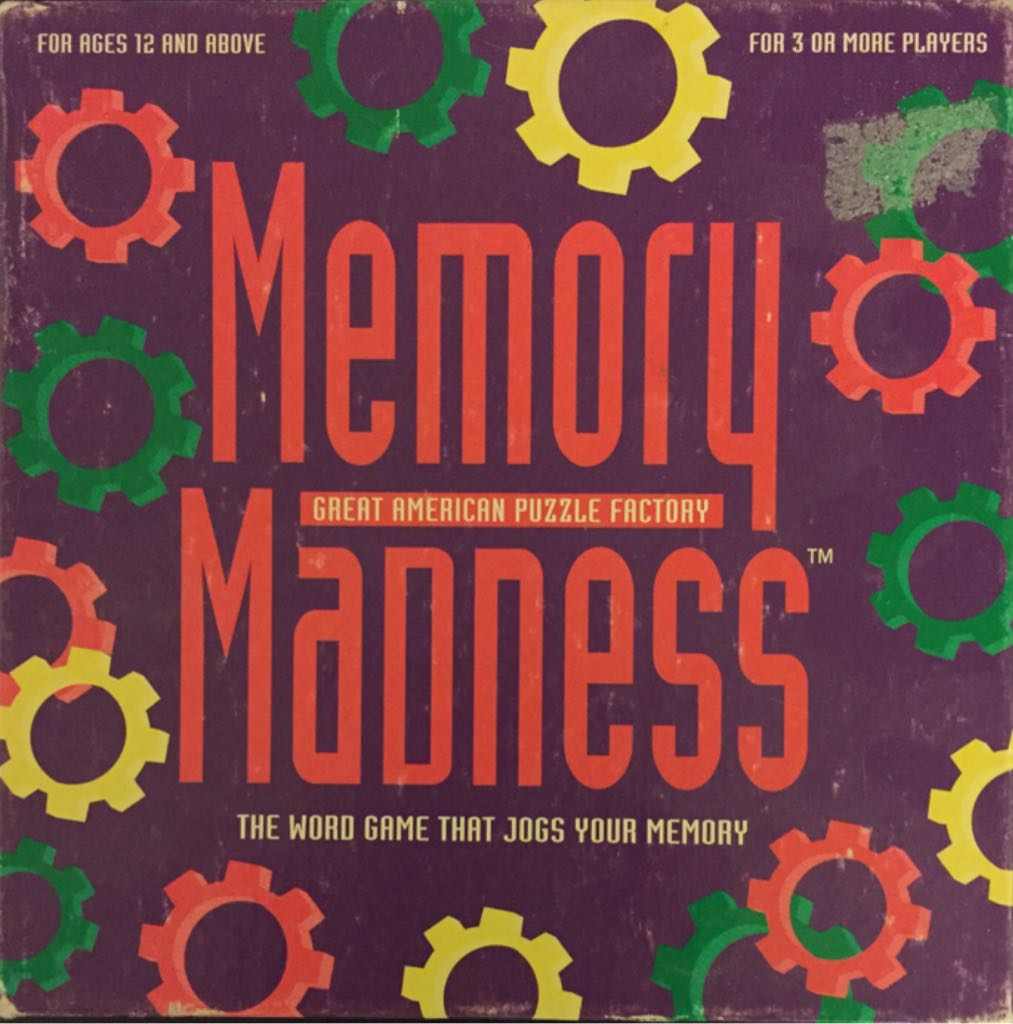 Memory Madness Board Game - Great American Puzzle Factory (Memory) front image (front cover)