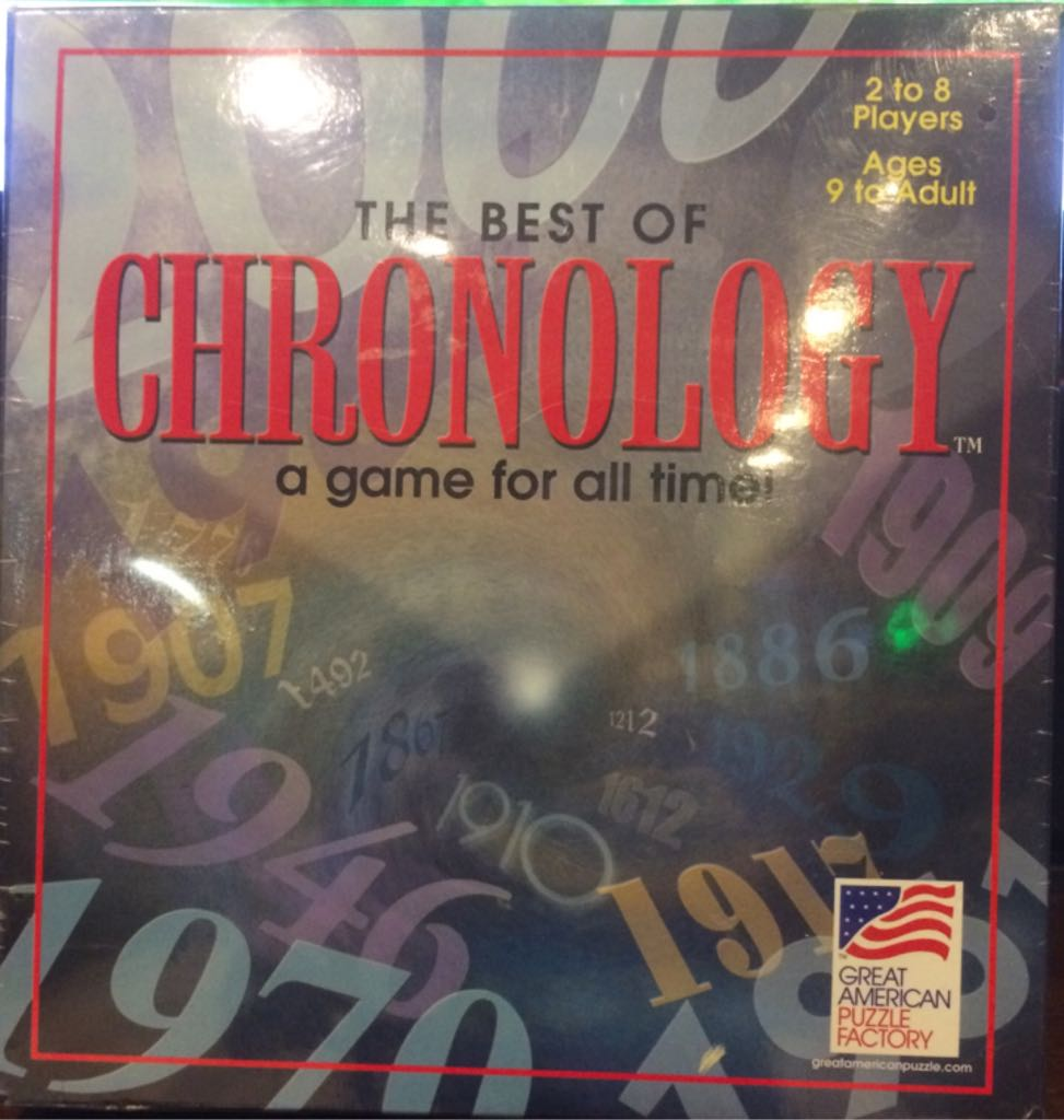 The Best Of Chronology Board Game - Great American Puzzle Factory front image (front cover)
