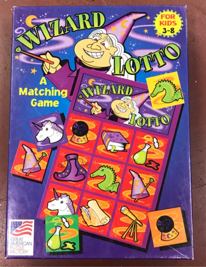 Wizard Lotto Board Game front image (front cover)