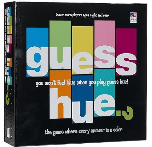 Guess Hue? Board Game front image (front cover)