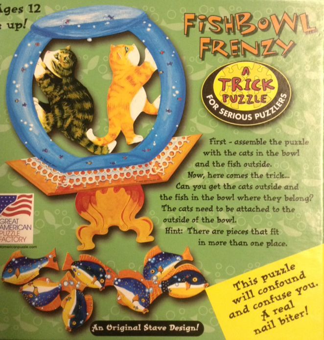 Fishbowl Frenzy Board Game (Puzzle) front image (front cover)