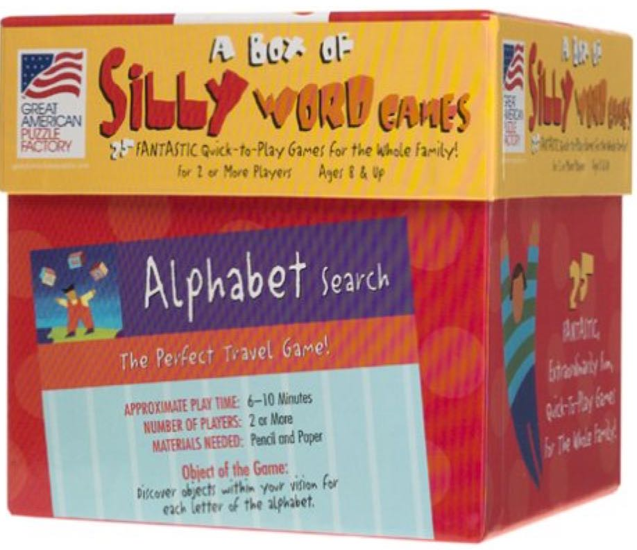 A Box of Silly Word Games Board Game front image (front cover)
