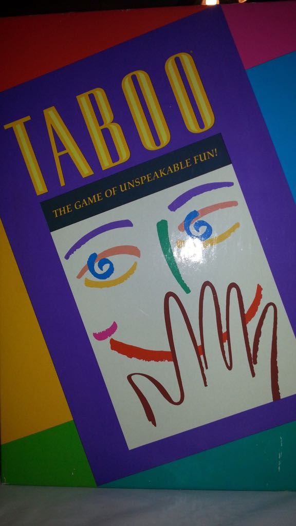 Tabu Board Game - Milton Bradley (Party Game) front image (front cover)
