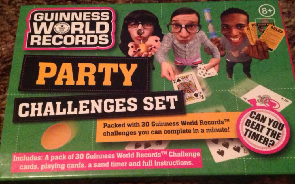 Guinness Worlds Record Party Challenge Board Game - Play Visions front image (front cover)