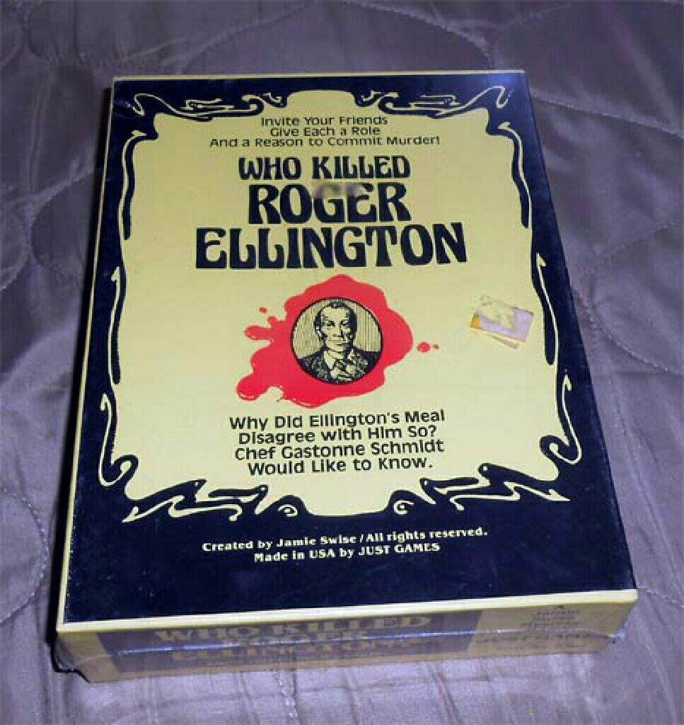 Who killed Roger Ellington Board Game front image (front cover)