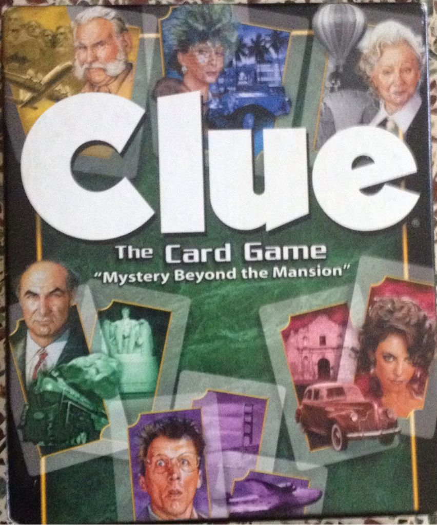 Clue The Card Game Board Game - Hasbro (Card Game) front image (front cover)