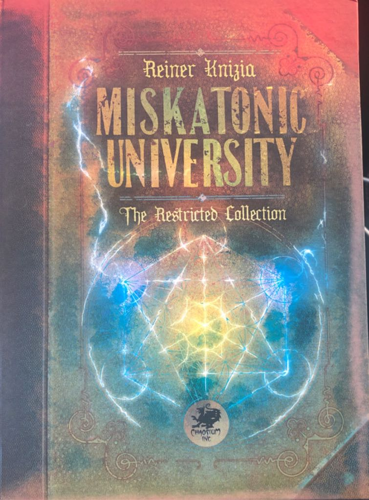 Miskatonic University Board Game - Chaosium Inc (Card Game*Strategy) front image (front cover)