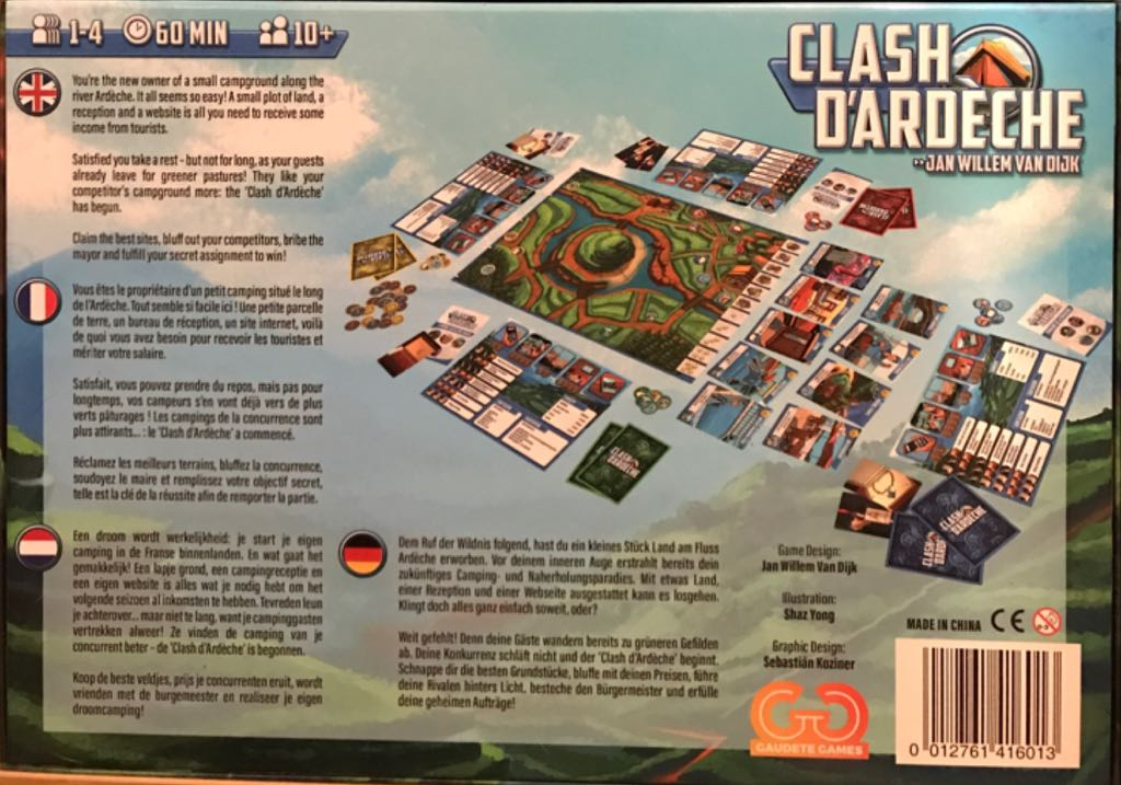 Clash D'ardeche Board Game - Gaudete Games back image (back cover, second image)