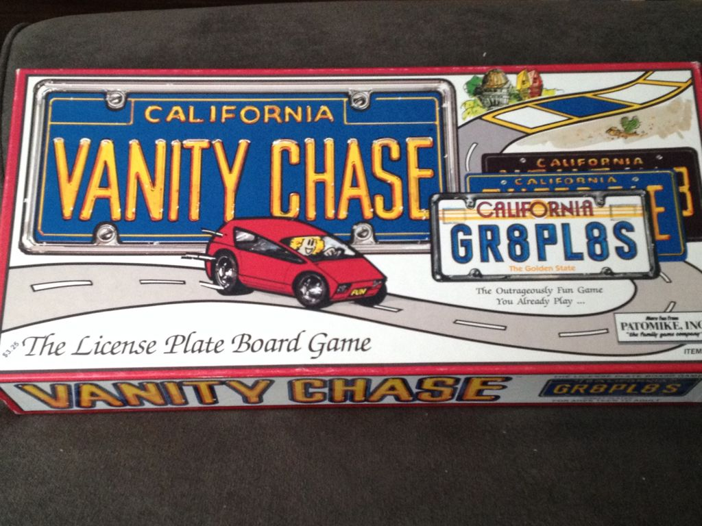Vanity Chase Board Game - Jac Productions (Word Game) front image (front cover)