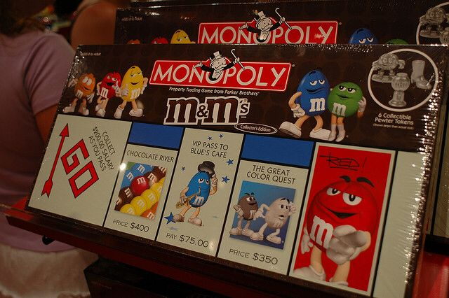 Monopoly. M & M's Collector's Edition Board Game - Parker Brothers front image (front cover)