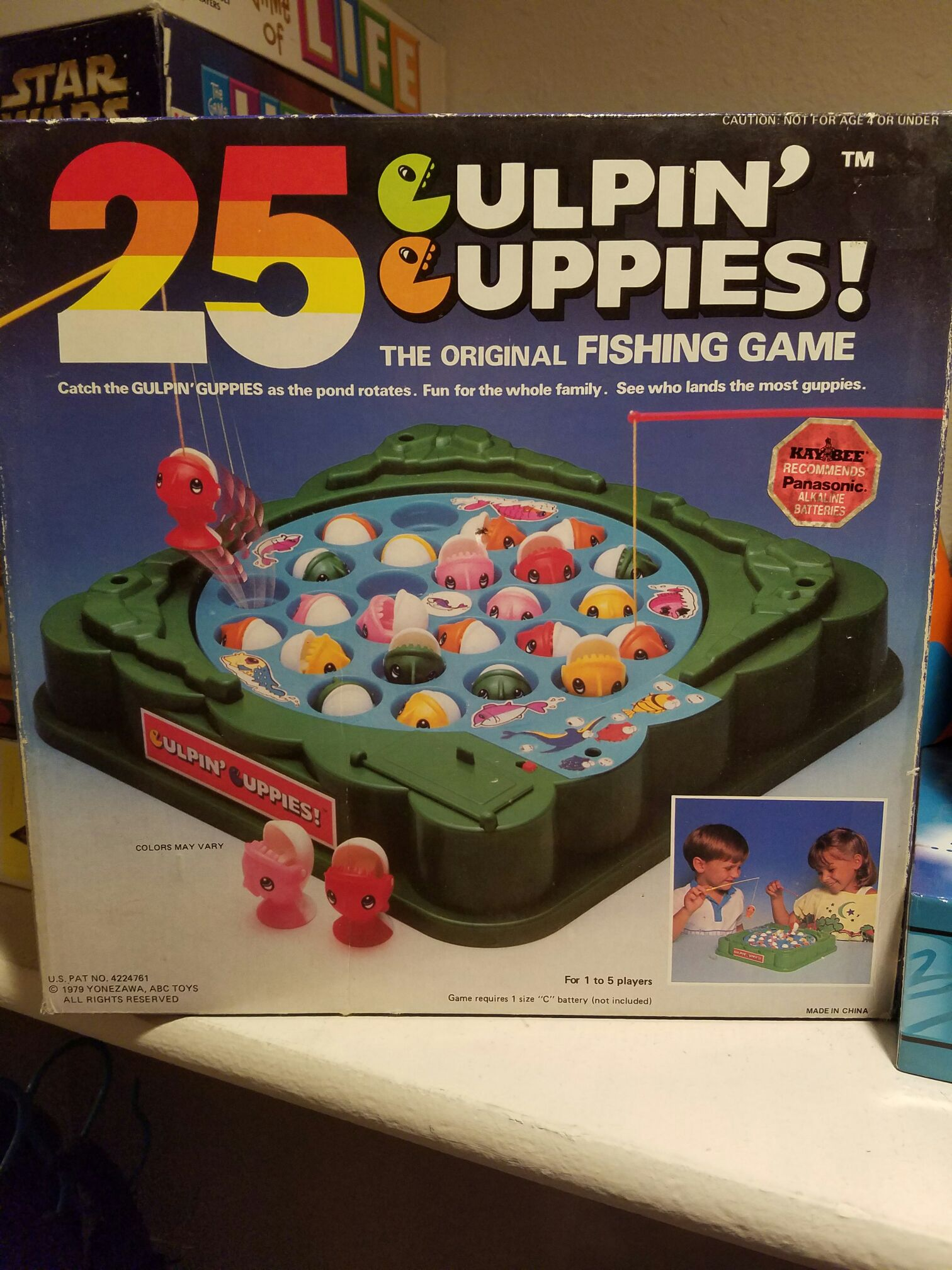 Gulpin Guppies Board Game front image (front cover)