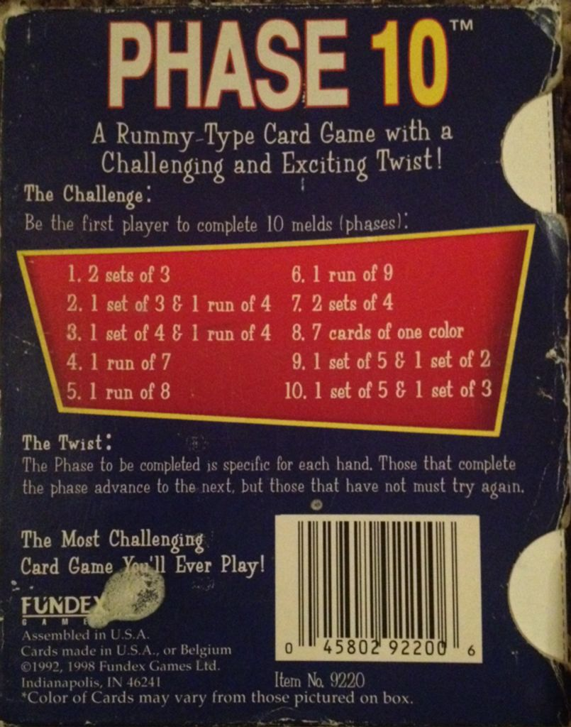 Phase 10 Card Game Board Game Fundex Games Card Game From Sort It Apps