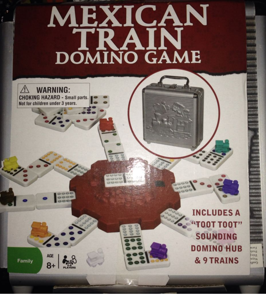 Mexican Train Dominoes Game Strategy - Mexican train domino game board game cardinal strategy back image back cover