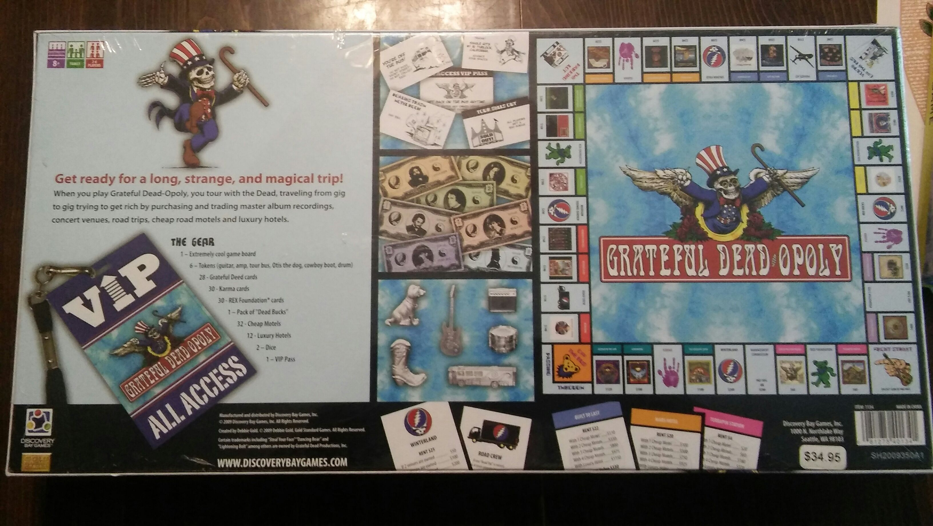 Grateful Dead Opoly Board Game - Discovery Bay Games - from Sort It Apps
